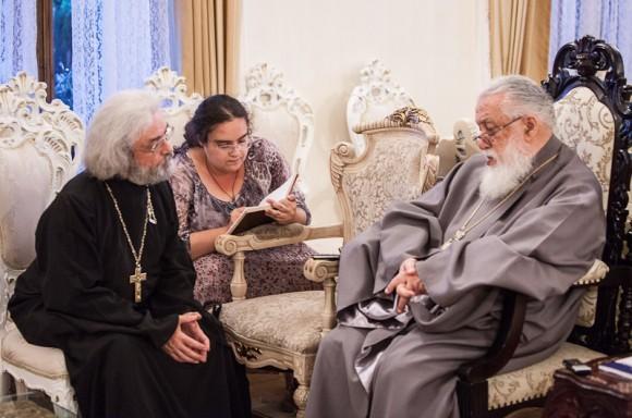 Католикос-Патриарх Илия II принимает представителей Правмира