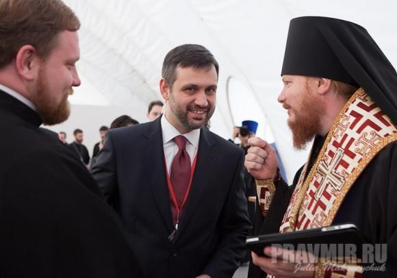 Протодиакон Александр Волков, Владимир Легойда, епископ Иона (Черепанов)
