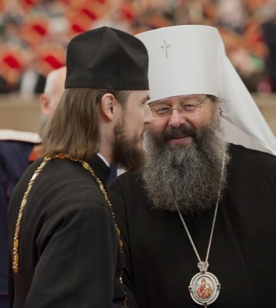Игумен Петр (Еремеев) и Кирилл, митрополит Екатеринбургский и Верхотурский<br>
