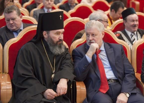 Также на соборе присутствовали Сергей Миронов...