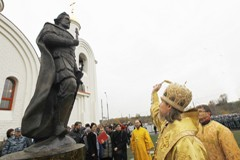 Освящение храма в память погибших сотрудников ОМОНа (ФОТО)