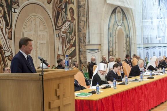 На открытии XVI ВРНС выступил глава администрации Президента РФ Сергей Борисович Иванов.
