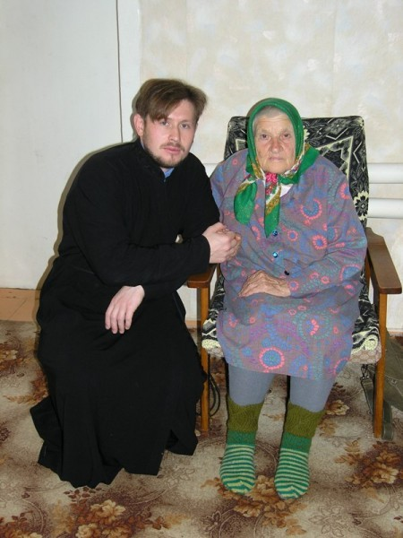 Священник Евгений Гомзяк и Нина Митрофановна Никулина