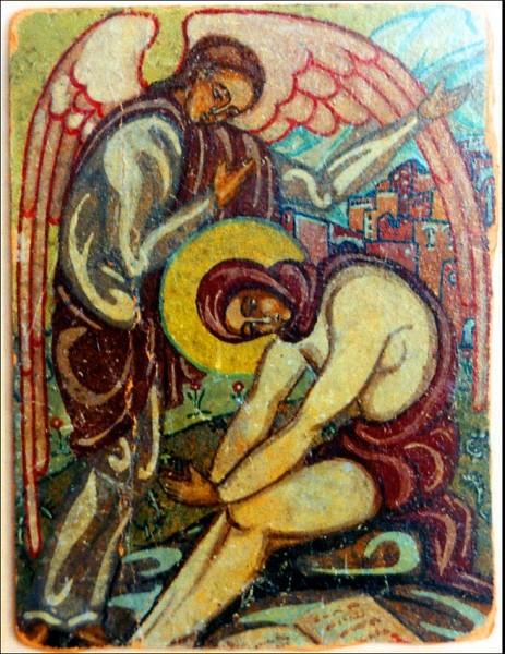 Икона св. Марии Египетской, которую м.Мария написала к своему постригу