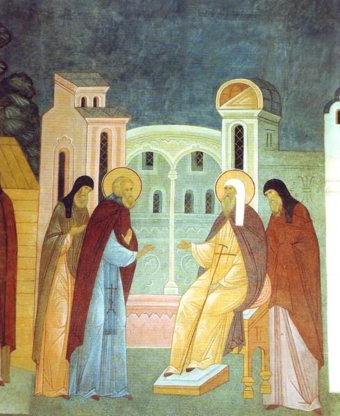 Перед кончиной свт. Алексий предложил Преподобному Сергию золотой крест и митрополию Московскую. Преподобный Сергий со смирением отклонил это.