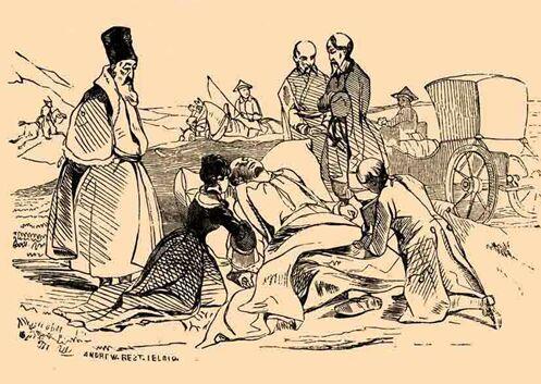 Смерть Потёмкина - гравюра по рисунку Т.Шевченко