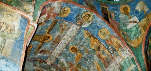 Спасо-Преображенский собор. Фрески XII века уникальной сохранности  © Фото: Игорь Докучаев