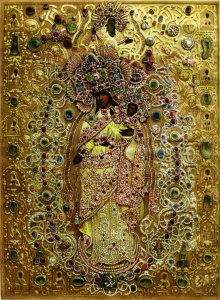 1680-е гг. По литографии 1862 г. Чудотворная икона царевны Натальи Алексеевны из Скорбященской церкви в Петербурге