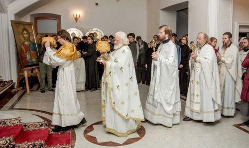 Литургия ап. Иакова в ПСТГУ 5 ноября 2012 г. Великий вход. Фото: pstgu.ru