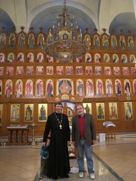 Протоиерей Георгий Крейдун и Алексей Лидов в Иоанно-Богословском храме г. Барнаула
