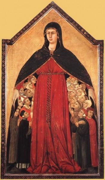 Мадонна делла Мизерикордия. Симоне Мартини. Начало XIV в.