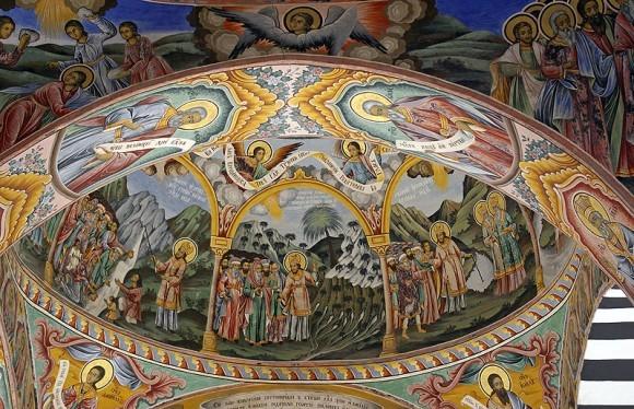 Фрески из притвора храма Рождества Богородицы