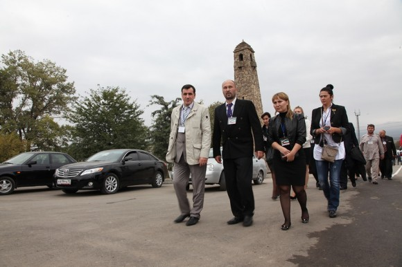 Делегация русских грозненцев приехала на открытие Национального парка им. А.Х. Кадырова