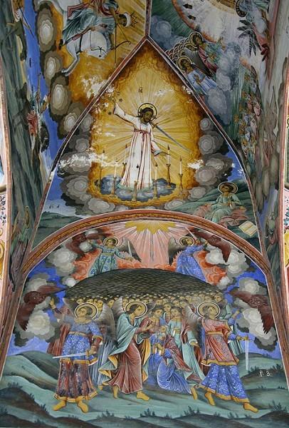 Армагеддон. Фреска из притвора храма Рождества Богородицы