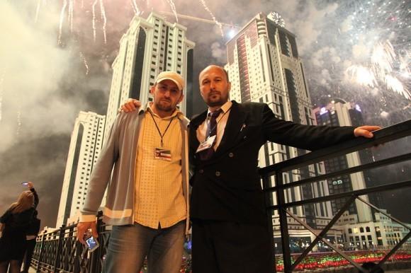 День города Грозного. 2012 г. Николай Моисеев и Сайпутдин Гутчигов