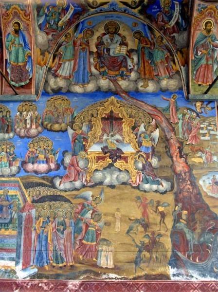 Страшный Суд. Фреска из притвора храма Рождества Богородицы