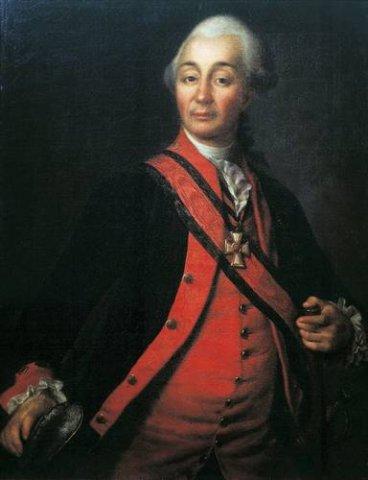 Тип Левицкого. Портрет Суворова.
