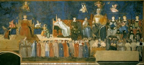 «Аллегория доброго правления» Амброджо Лоренцетти