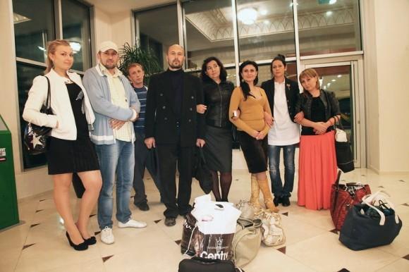 Делегация русских грозненцев в гостинице Грозный Сити. Первый день приезда в город
