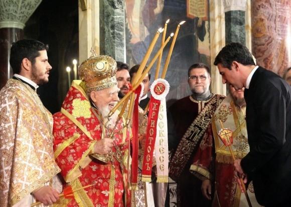 Святейший Патриарх Болгарский Максим и президент Болгарии Р.Плевнелиев