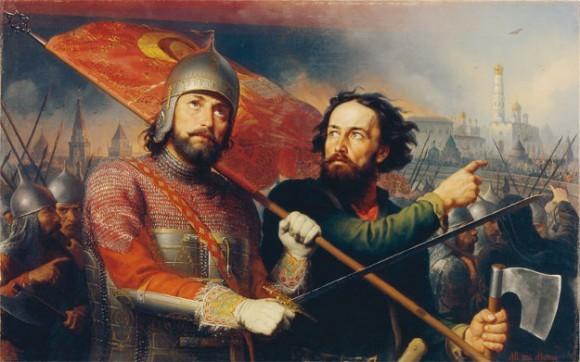 Минин и Пожарский. Картина М.И. Скотти. 1850 год