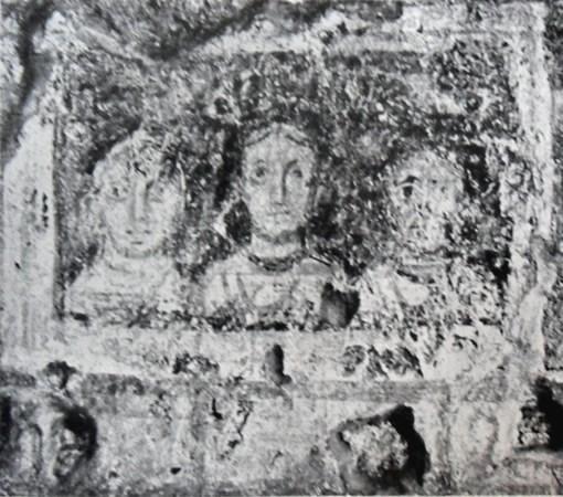 Роспись церкви Санта Мария Антиква. Ок. 720 г. Рим (святитель Николай справа)