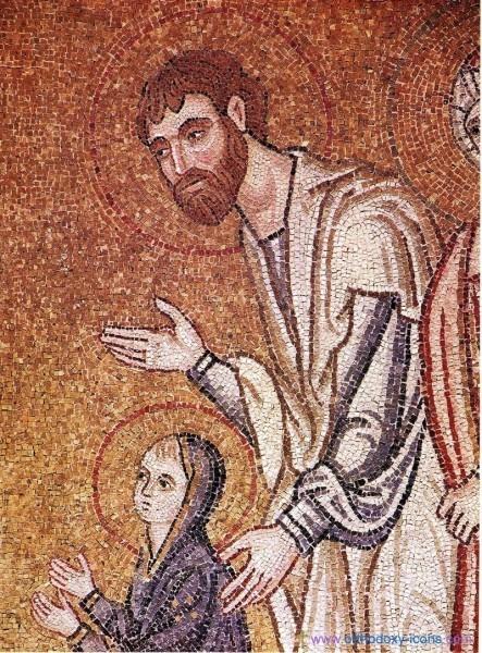 Мозаика ц. Успения близ Дафни. Ок.1100 г. Греция. Фрагмент
