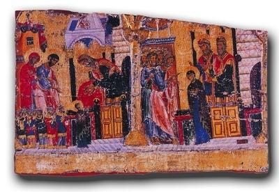 Фрагмент эпистилия. Кон. XII в. Монастырь Ватопед, Афон, Греция
