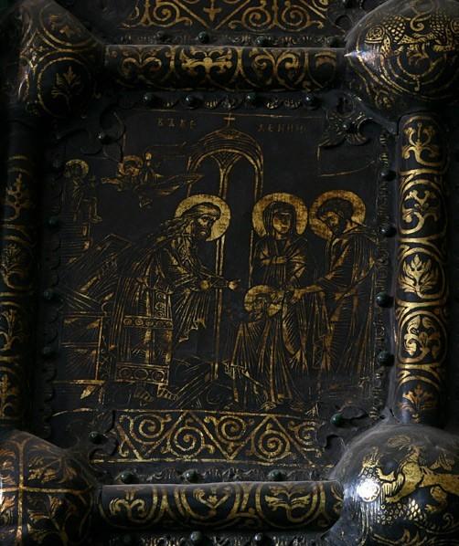 Западные врата Богородице-Рождественского собора. 1227-1238 гг. Владимиро-Суздальский музей-заповедник. Фрагмент
