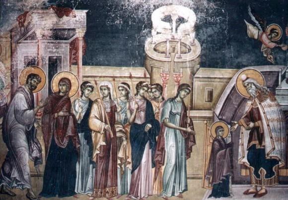 Роспись Кралевой церкви (святых Иоакима и Анны) в монастыре Студеница. Ок.1314 г. Сербия