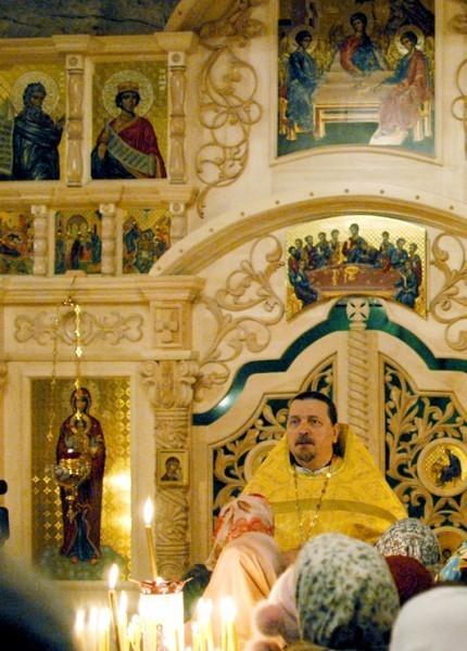 Слово игумена Митрофана на освящении храма