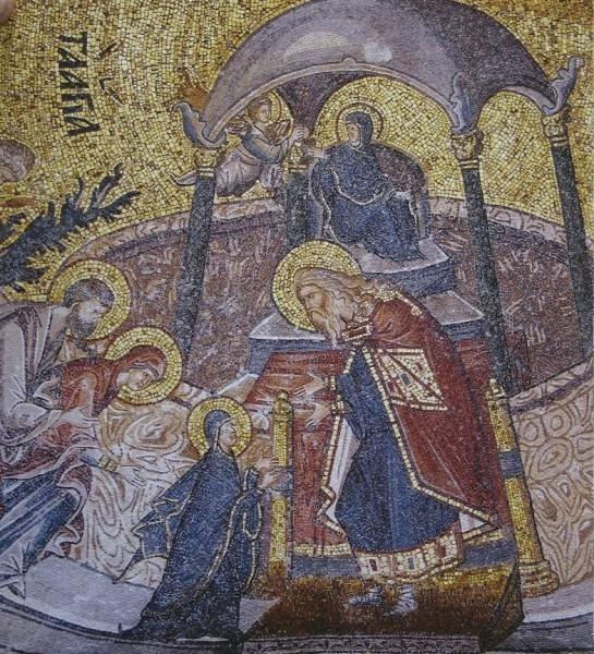 Мозаика церкви монастыря Хора (Кахрие-джами). Ок.1315—1321 гг. Стамбул, Турция. Фрагмент