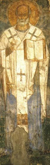 Фреска киевского Михайловского Златоверхого монастыря. 1103-1113гг. ГТГ, Москва