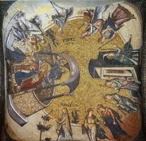 Мозаика церкви монастыря Хора (Кахрие-джами). Ок.1315—1321 гг. Общий вид свода