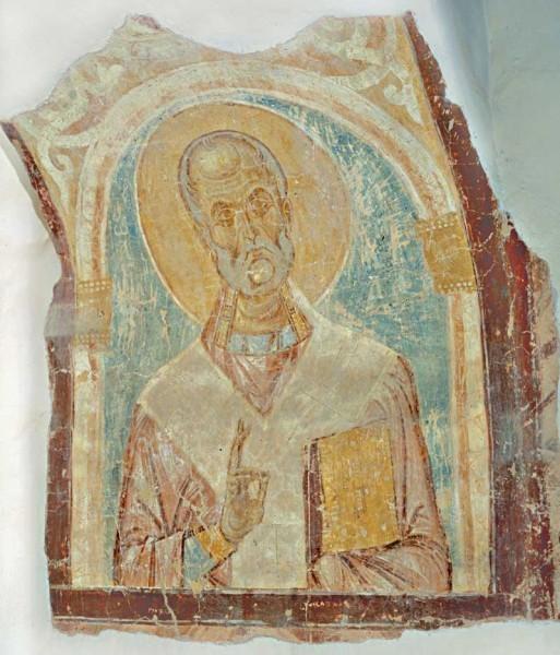Фреска Георгиевского собора в Старой Ладоге. Посл.четверть XII в.
