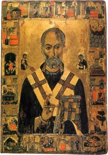 Свт. Николай с житием. 1-ая половина XIII в. Монастырь св.Екатерины, Синай