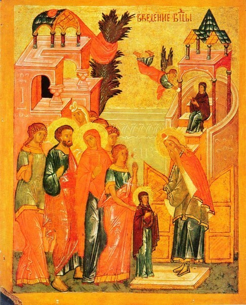 Двусторонняя икона-таблетка из Софийского собора в Новгороде. Кон. XV — нач. XVI вв. ГТГ, Москва
