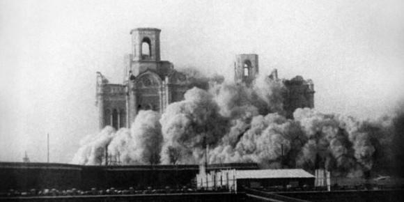 Взрыв Храма Христа Спасителя, 1931 год. Фото: ИТАР-ТАСС