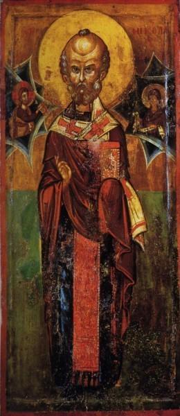 Николай Чудотворец. Икона. XIV в. Музей Македонии, Скопье, Македония