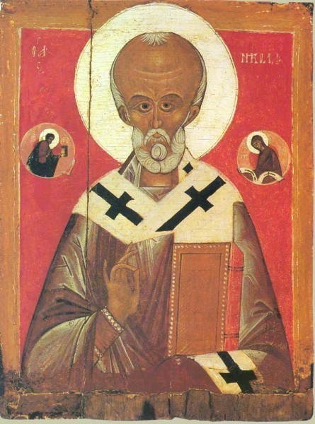 Николай Чудотворец. Икона. XIV в. Новгород. Частное собрание