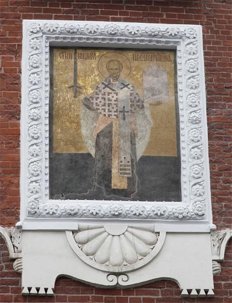 Роспись на Никольской башне Московского Кремля. Кон.XV - нач.XVI в.