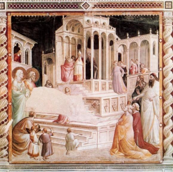 Таддео Гадди. Фреска капеллы Барончелли в базилике Санта-Кроче. 1328—1330 гг. Флоренция, Италия