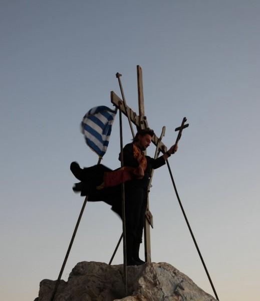 На вершине Афона 15 сентября 2011 года