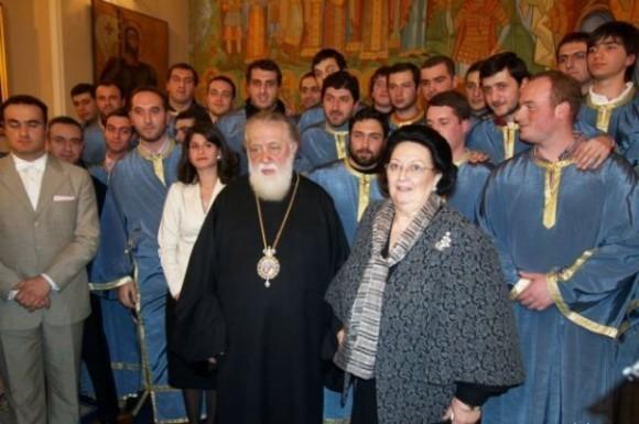Патриарх Илия II и оперная певица Монсеррат Кабалье
