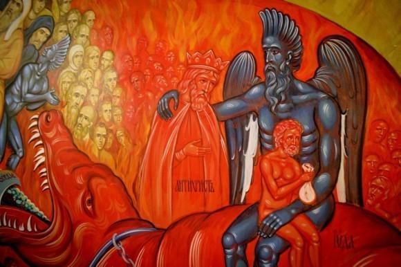 Фрагмент настенной росписи в братском корпусе