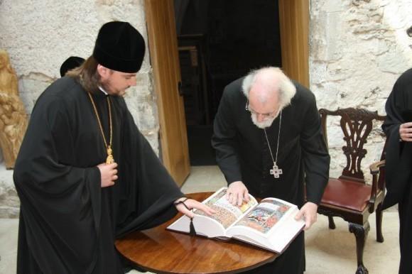 Лондон. С архиепископом Кентерберийским Роуэном Уильямсом. Ламбертский Дворец. 2008 год