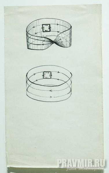 П.А.Флоренский. Из иллюстраций к работе «Мнимость в геометрии». 1922. Бумага, ретушь