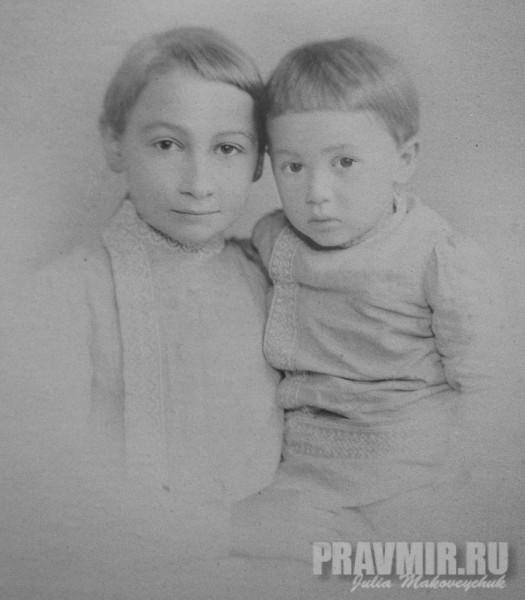 Павел Флоренский с братом Александром. Тифлис, около 1890. Серебряно-желатиновый отпечаток