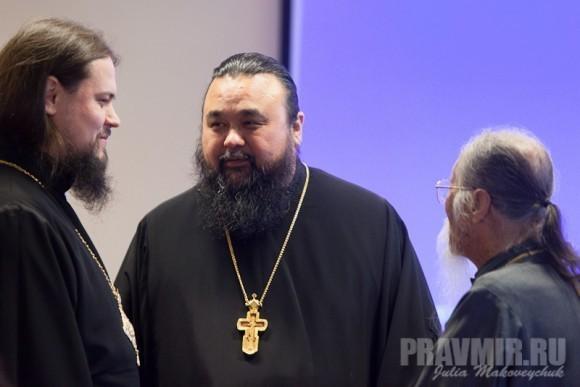 владыка Ефрем, прот. Владимир Бойков из Новой Зеландии и прот. Михаил Ли