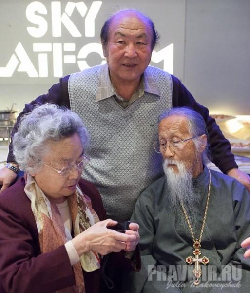 Чтец Папий Фу Силян, Шанхай, прот. Михаил Ли и матушка Анна, Сидней